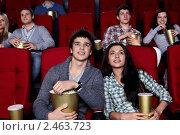 Купить «Молодая пара в кино», фото № 2463723, снято 1 марта 2011 г. (c) Raev Denis / Фотобанк Лори