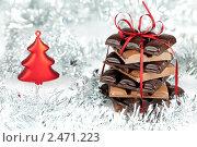 Новогодний шоколад. Стоковое фото, фотограф Marina Appel / Фотобанк Лори