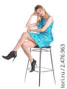 Купить «Девушка с длинными светлыми волосами», фото № 2476963, снято 7 марта 2011 г. (c) Черников Роман / Фотобанк Лори