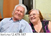 Купить «Счастливая старость вдвоем», эксклюзивное фото № 2479187, снято 17 апреля 2011 г. (c) Анна Мартынова / Фотобанк Лори