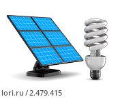Купить «Солнечная батарея на белом фоне», иллюстрация № 2479415 (c) Ильин Сергей / Фотобанк Лори