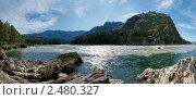 Слияние рек Чемал и Катунь. Стоковое фото, фотограф Рыбин Евгений Евгеньевич / Фотобанк Лори