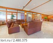 Купить «Холл отеля», фото № 2480375, снято 7 апреля 2011 г. (c) Яков Филимонов / Фотобанк Лори