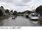 Купить «Город Турку, вид на реку и набережные», фото № 2483467, снято 3 августа 2009 г. (c) Андрей Ерофеев / Фотобанк Лори