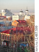 Купить «Вид на Томск с Воскресенской горы», фото № 2487599, снято 11 апреля 2011 г. (c) Поляков Владимир / Фотобанк Лори