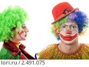 Купить «Два веселых клоуна», фото № 2491075, снято 21 ноября 2009 г. (c) Сергей Сухоруков / Фотобанк Лори
