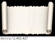 Купить «Бумажный свиток», иллюстрация № 2492427 (c) Сергей Куров / Фотобанк Лори