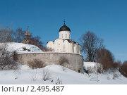 Зима в Старой Ладоге (2011 год). Редакционное фото, фотограф Виктор Карасев / Фотобанк Лори