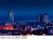 Ночной Волгоград. Редакционное фото, фотограф Виктор Шилин / Фотобанк Лори