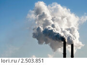 Дымящие трубы. Стоковое фото, фотограф Анфимов Леонид / Фотобанк Лори
