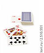 Купить «Игральные карты», фото № 2510551, снято 3 сентября 2010 г. (c) Татьяна Белова / Фотобанк Лори