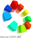 Цветная объемная диаграмма. Стоковая иллюстрация, иллюстратор Jalin / Фотобанк Лори