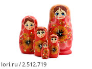 Купить «Красная матрешка», фото № 2512719, снято 3 мая 2011 г. (c) Угоренков Александр / Фотобанк Лори