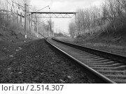 Железная дорога. Стоковое фото, фотограф Анастасия Хабарова / Фотобанк Лори