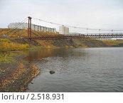 Мост в Воркуте на поселок Рудник (2007 год). Стоковое фото, фотограф Денис Антонов / Фотобанк Лори