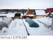 Купить «Заводоуковск. Частный сектор», фото № 2519243, снято 13 марта 2011 г. (c) Александр Тараканов / Фотобанк Лори