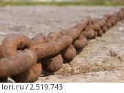 Ржавая цепь. Стоковое фото, фотограф Евгений Заржицкий / Фотобанк Лори