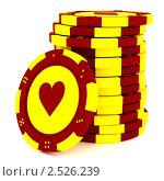 Фишки казино. Стоковая иллюстрация, иллюстратор Jalin / Фотобанк Лори