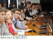 Студенты на вузовской конференции (2011 год). Редакционное фото, фотограф Анна Мартынова / Фотобанк Лори