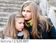 Купить «Счастливая семья.Отношения старшей и младшей сестры крупный план.», эксклюзивное фото № 2529887, снято 22 апреля 2011 г. (c) Игорь Низов / Фотобанк Лори