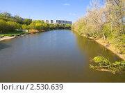 Купить «Река Калитва в черте города Белая Калитва», фото № 2530639, снято 1 мая 2011 г. (c) Борис Панасюк / Фотобанк Лори