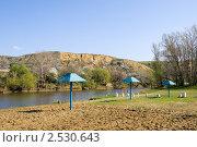 Купить «Пляж на реке Калитве у Авиловых гор», фото № 2530643, снято 1 мая 2011 г. (c) Борис Панасюк / Фотобанк Лори