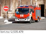 Купить «Пожарный автомобиль», эксклюзивное фото № 2535479, снято 13 мая 2011 г. (c) Александр Щепин / Фотобанк Лори