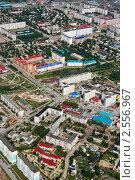 Вид сверху на город Мегион (Нижневартовский район) (2009 год). Редакционное фото, фотограф Владимир Мельников / Фотобанк Лори