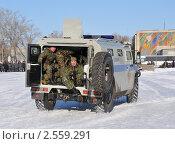 Купить «Отъезд спецназовцев», эксклюзивное фото № 2559291, снято 18 марта 2011 г. (c) Free Wind / Фотобанк Лори