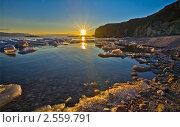 Весенний рассвет на Байкале. Стоковое фото, фотограф Виктория Катьянова / Фотобанк Лори