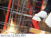Купить «Газовая резка», фото № 2563951, снято 25 июня 2019 г. (c) Дмитрий Калиновский / Фотобанк Лори