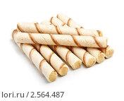 Купить «Вафельные трубочки», фото № 2564487, снято 22 ноября 2019 г. (c) Петр Малышев / Фотобанк Лори