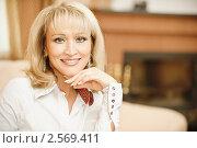 Купить «Портрет улыбающейся женщины», фото № 2569411, снято 5 июня 2010 г. (c) BestPhotoStudio / Фотобанк Лори