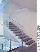 Купить «Лестница в современном здании», фото № 2572299, снято 4 октября 2010 г. (c) Виктор Застольский / Фотобанк Лори