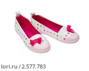 Яркая обувь для девочки. Стоковое фото, фотограф Алексей Климков / Фотобанк Лори
