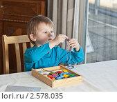 Купить «Мальчик с игрушками», фото № 2578035, снято 12 марта 2011 г. (c) Михаил Лавренов / Фотобанк Лори