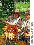 Купить «Плетение из бересты», фото № 2584435, снято 7 июня 2009 г. (c) ElenArt / Фотобанк Лори