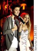 Элла и Ники (Ell & Nikki) победителей Евровидения 2011. Редакционное фото, фотограф Андрей Дегтярёв / Фотобанк Лори