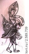 Фигура для тайского театра теней. Стоковое фото, фотограф Баранов Александр / Фотобанк Лори