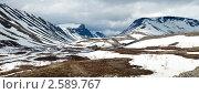 Хибины, май. Вид на перевал Кукисвумчорр. Стоковое фото, фотограф Надежда Щур / Фотобанк Лори