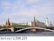 Большой Каменный мост и Кремль, Москва (2008 год). Редакционное фото, фотограф Мастепанов Павел / Фотобанк Лори