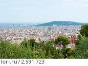 Купить «Вид из Парка Гуэль (Park Guell) на Барселону. Испания», фото № 2591723, снято 5 июня 2011 г. (c) Екатерина Овсянникова / Фотобанк Лори
