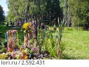 Купить «Фестиваль флористики « Цветень», букеты и композиции из цветов на фоне природы», фото № 2592431, снято 4 июля 2010 г. (c) ElenArt / Фотобанк Лори