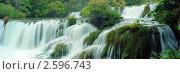 Водопад Крк, Хорватия. Стоковое фото, фотограф Leksele / Фотобанк Лори