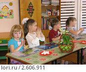 Дети старшей группы детского сада на занятии (2011 год). Редакционное фото, фотограф Валентина Троль / Фотобанк Лори
