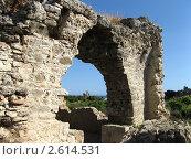 Руины старого города Сиде, Турция (2010 год). Стоковое фото, фотограф Александр Верховцев / Фотобанк Лори