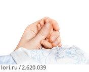 Купить «Рука младенца в руке  матери», фото № 2620039, снято 18 февраля 2019 г. (c) Маргарита Бородина / Фотобанк Лори