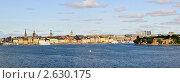 Купить «Панорама набережной старого Стокгольма (Гамла Стан)», фото № 2630175, снято 14 июня 2011 г. (c) Сергей Разживин / Фотобанк Лори