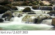Купить «Горная река. Таймлапс», видеоролик № 2637303, снято 18 октября 2010 г. (c) ILLYCH / Фотобанк Лори