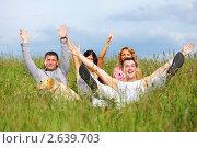 Купить «Друзья на пикнике», фото № 2639703, снято 10 июля 2009 г. (c) Иван Михайлов / Фотобанк Лори